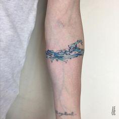 """1,453 Likes, 5 Comments - YELIZ OZCAN (@yelizozcan_tattooer) on Instagram: """"// wave band #yelizozcan #designbyyelizozcan #tattooer #tattooist #instatattoo #ink #inked…"""""""