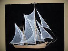 Vintage Nautical Boat/Ship/Yacht String Art Large 24