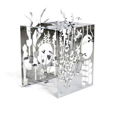 Now, here's a garden I can take care of! Mikro Cube // Garden  Sculpture by Sam Buxton
