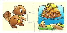 που ζουν τα ζώα - where do they live? - matching game