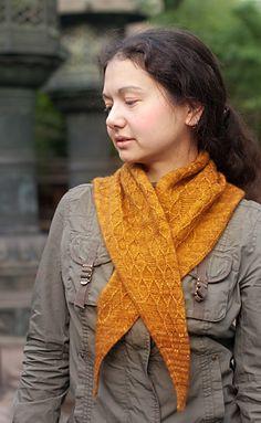 Apis Dorsata shawl: Knitty Deep Fall 2011