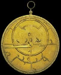 Astrolabe, 15th century - The Earth as the center of the Universe - Positions of planets and locations in sky.  Video Here:  http://www.ted.com/talks/tom_wujec_demos_the_13th_century_astrolabe.html