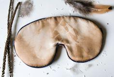 Organic sleep mask, silk eye mask, sleep mask, eye mask, natural dye, organic gift, sleep aid