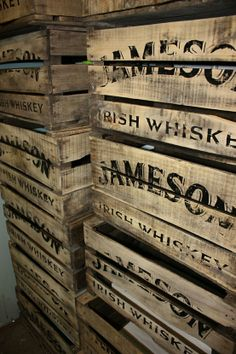 Made a logo stamp for these Jameson's whiskey crates