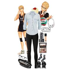 Fem!Tsukishima | Haikyuu!! by pecio-chan on Polyvore Casual Cosplay, Cosplay Outfits, Anime Outfits, Cool Outfits, Casual Outfits, Fashion Outfits, Anime Inspired Outfits, Disney Inspired Fashion, Character Inspired Outfits