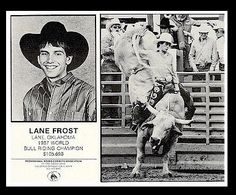 """Don't be afraid to chase your dreams, but don't be afraid to pay the price""-Lane Frost"