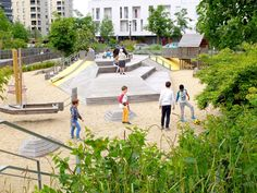 A map of the best contemporary landscape architecture projects from around the world. Architecture Graphics, Concept Architecture, Landscape Architecture, Contemporary Landscape, Urban Landscape, Landscape Design, Playground Design, Children Playground, Nantes France