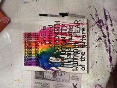 Crayon melted art!