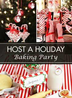 Host a Holiday Baking Party for you and your close friends! This is a great way to get into the holiday spirit and get ahead with your party preparations!