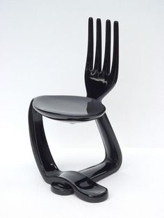 Perch seat - 'Spoon & Fork' chair by Pop Art Decoration--don't know how comfortable it would be. Weird Furniture, Classic Furniture, Unique Furniture, Cheap Furniture, Furniture Design, Furniture Chairs, Bedroom Furniture, Furniture Ideas, Furniture Removal