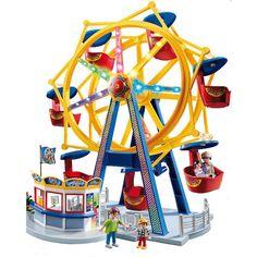 Playmobil toys with electricity: Amusement park ferris wheel