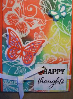 Distress inks, Simply Susan stamp set and butterfly dies