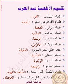 تقسيم الطعام عند العرب ゚ Calligraphy Arabic Calligraphy Arabic