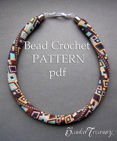 Modello per la collana di perline uncinetto di BeadedTreasury