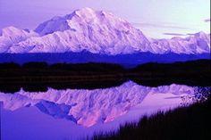 Leave Alaska June 9th. Arrive home June 27th. 2014 Celtic Cultures. Picture of Denali reflected in Wonder Lake, Denali National Park.