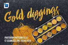 Gold Diggings Fill Patterns by made by us on @creativemarket