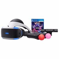 NEW SONY PLAYSTATION VR LAUNCH BUNDLE WORLDS (VR HEADSET, 2 CONTROLLERS, WORLDS) #Sony