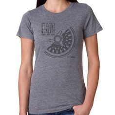 Spinner Mesh wheel tshirt design in Heather Grey