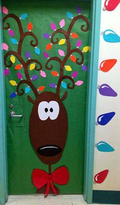 Γιορτινός τάρανδος για την πόρτα Christmas Decorations For Classroomschool Door