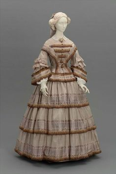 Day dress, ca 1855 United States, MFA Boston