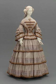 Day dress, ca 1855 United States, MFA Boston