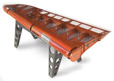 Desks Made from Salvaged Airplane Parts by MotoArt