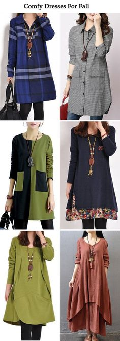 Comfy Dresses For Fall Winter Fashion Mode Outfits, Fall Outfits, Fashion Outfits, Womens Fashion, Fashion Ideas, Pretty Outfits, Beautiful Outfits, Look Fashion, Winter Fashion