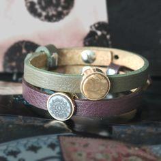 Faszinierender Schmuck mit Cuoio, Holz Perlen, Facettperlen und Perlen aus Acryl
