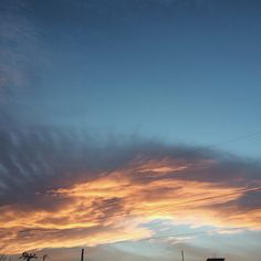 Clouds on fire