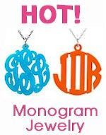 Not only hot because of the colors, but these acrylic monogram necklaces are super trendy!  Get one for yourself or as a gift at www.morethanpaper.com.