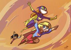 Batgirl using Supergirl to fly Batgirl, Supergirl Dc, Dc Superhero Girl, Character Art, Character Design, Super Heroine, Dc Comics Girls, Detective Conan Wallpapers, Batman Poster