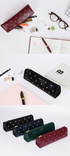 This is a simple yet super cute pen case! With adorable polka dot designs, this sturdy pen is the perfect companion to hold all your import pens!