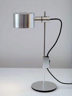 Peter Nelson; Aluminum Table Lamp, 1960s.