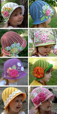 New Crochet Hat Patterns Free Cloche Yarns Ideas Bonnet Crochet, Crochet Beanie Pattern, Crochet Patterns, Hat Patterns, Knitting Patterns, Baby Girl Crochet, Crochet Baby Hats, Baby Knitting, Knitting Hats