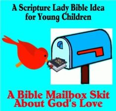 Share this Bible Mailbox Skit with your young children to teach them about how much God loves them. Bring a Bible Mailbox into your classroom or home today! Youth Bible Lessons, Preschool Bible Lessons, Mailbox, Sunday School, Gods Love, Classroom, Songs, Teaching, Fun