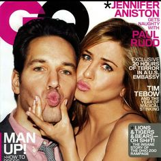 Pucker up! Jennifer Aniston in Me&Ro 10K Large Paisley Hoop earrings on the March 2012 cover of GQ Magazine