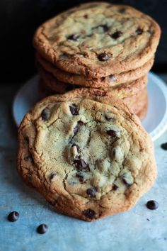 Classic Chocolate Chip Cookies ~ crisp on the outside, soft and chewy on the inside and full of buttery goodness