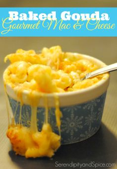 Gourmet Baked Gouda Mac & Cheese Recipe-- get fancy with some grown up mac & cheese!