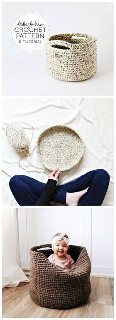basket crochet tutorial
