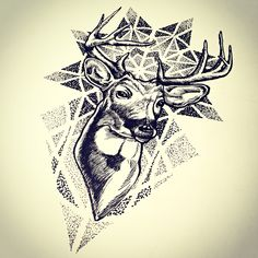 Deer dotwork sketch