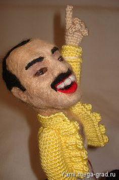 Портретная кукла Фредди Меркури - портретная кукла. МегаГрад - online выставка-продажа авторской ручной работы