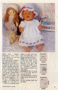 Mynd: Knitting Dolls Clothes, Crochet Doll Clothes, Knitted Dolls, Barbie Clothes Patterns, Doll Patterns, Reborn Dolls, Baby Dolls, Baby Born Clothes, Baby Alive