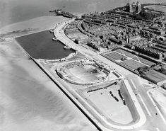 The Bathing Pool, Marine Lake and Marine Promenade, New Brighton, 29 Majestic Historical Photos Of Britain From Above Liverpool History, London History, Tudor History, British History, Ancient History, Historical Women, Historical Photos, Bath City Centre, Liverpool England