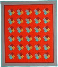 Intermediate Quilt Pattern: Four Arrows by Eleanor Dugan in Quilters Newsletter December 2014 / January 2015.