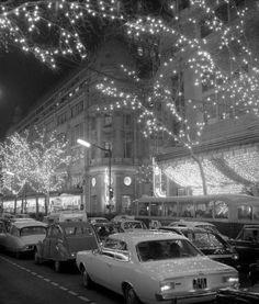 Noël à Paris dans les années 60.
