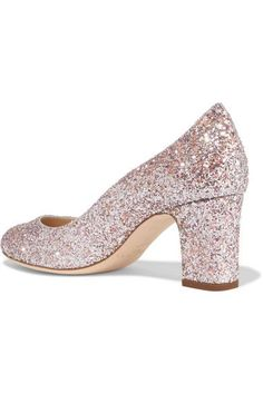 1f5fa70ad453 Jimmy Choo - Billie Glittered Leather Pumps - Pastel pink