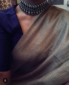 Thankyou for this gorgeous choker. Beige Soft Kota Saree Paired with Raw Silk Blouse. Kota Sarees, Indian Sarees, Silk Sarees, Saris, Kota Silk Saree, Raw Silk Saree, Jamdani Saree, Pakistani, Indian Dresses