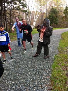 http://www.zombietrailrun.ca/  5 km Zombie Trail Run Sept 28th, 2013  Waverley,  Nova Scotia