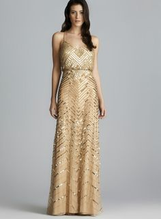 Gatsby Dress Cross Back Long Sequined Blouson Dress Prom...bridesmaid dresses