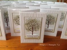Sheltering Tree stamp set, Stampin Up. Thank you card